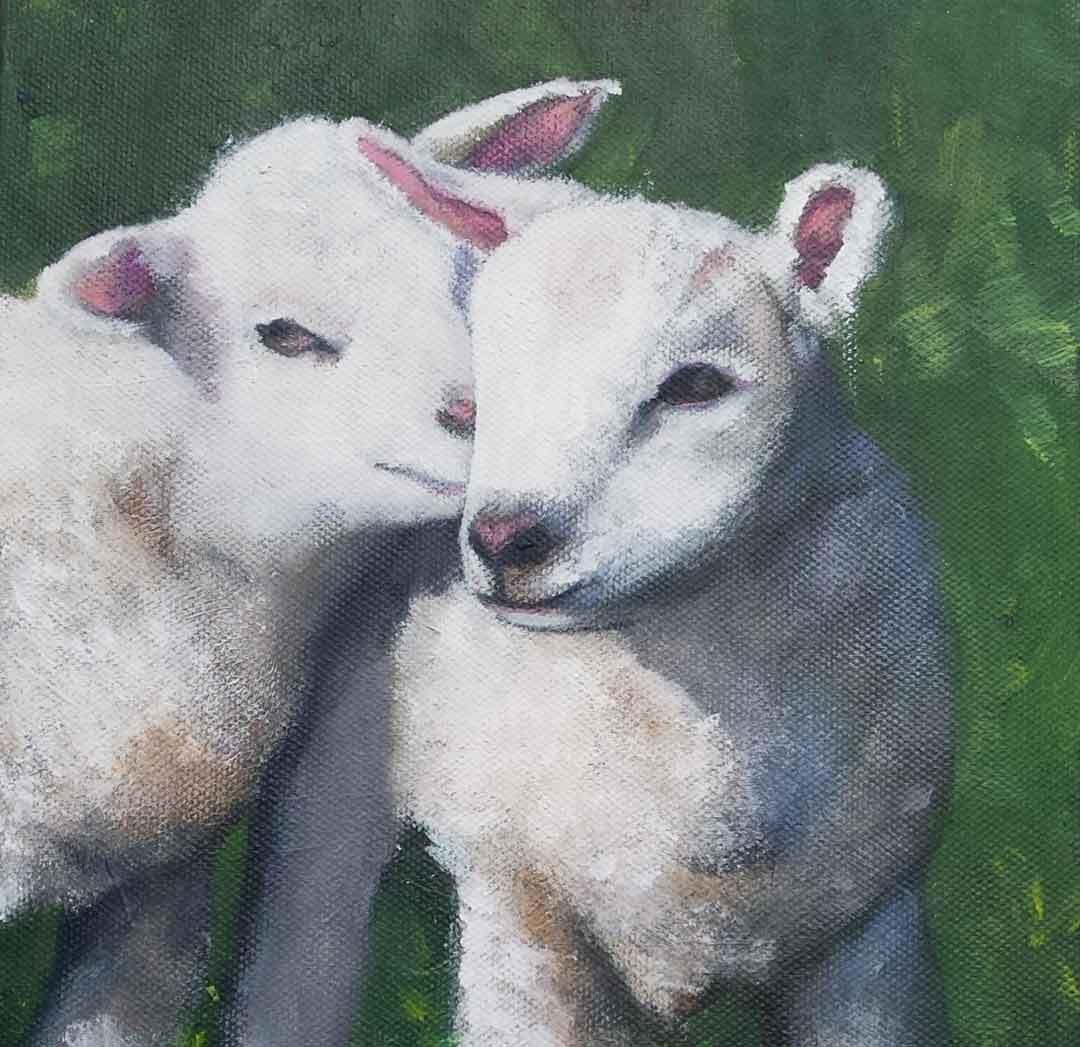 erna van der veen schilderij knuffel