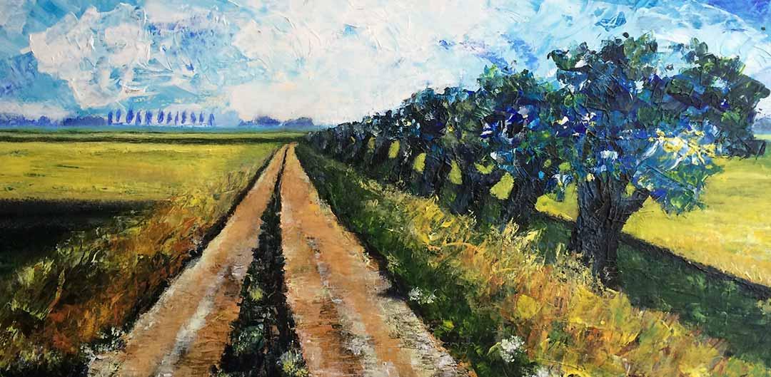 Schilderij Erna van der Veen - boerenland