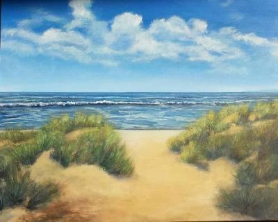 schilderij duinen Erna van der Veen
