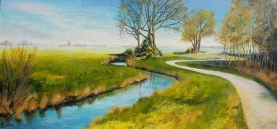 schilderij fries landschap