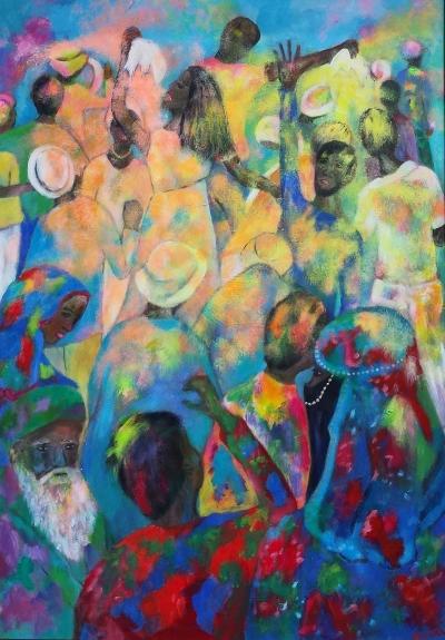 schilderij holy festival