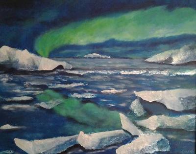 schilderij noorderlicht