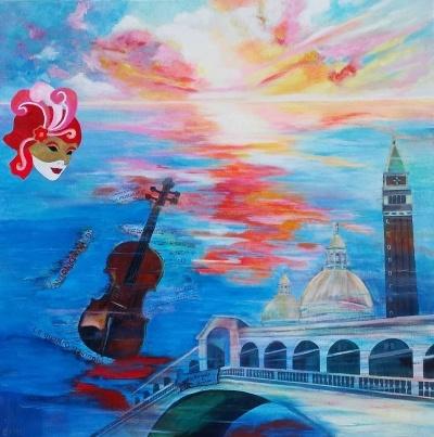 schilderij Venetië
