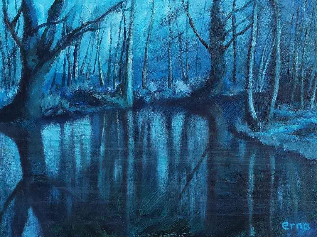 schilderij weerspiegeling