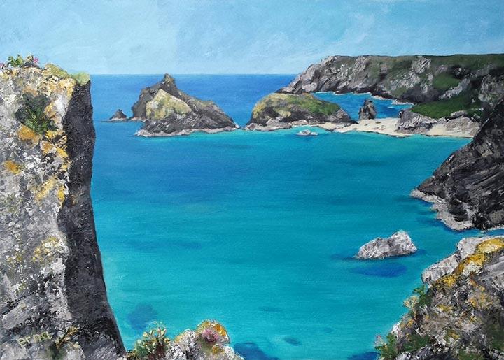 sea rock 1 schilderij